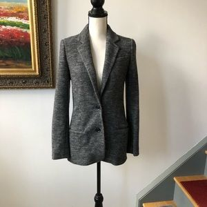 Vince herring bone warm jacket 4 S 100% wool gray